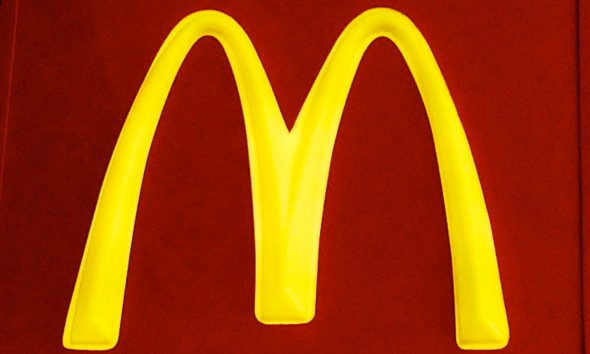 McDonald's logo, fast food