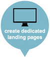 create dedicated landing pages